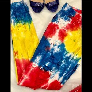 Denim - Tie Dye Skinny Jeans Sizes 4-14